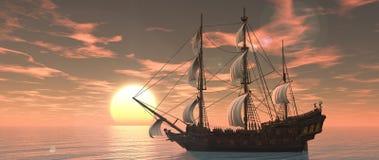 Sailing boat royalty free illustration