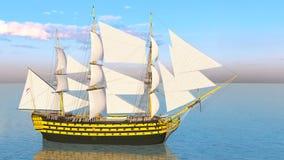 Sailing boat vector illustration