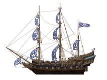 Sailing boat. 3D illustration of sailing boat Royalty Free Stock Photos