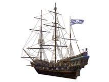 Sailing boat. 3D illustration of sailing boat Stock Image