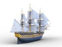 Sailing boat. 3D illustration of a sailing boat Stock Photo