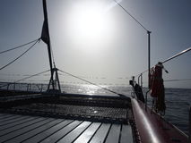 Sailing boat deck, Tenerife Royalty Free Stock Photos