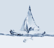Sailing Boat with Fishbone Stock Photography