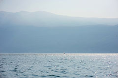 Sailing boat at Garda lake Royalty Free Stock Images