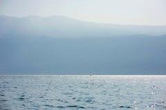 Sailing boat at Garda lake Royalty Free Stock Images