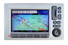 Sailing boat gps Stock Photos
