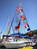 Sailing Boat Harbor Island Greece Royalty Free Stock Photography