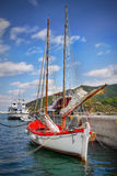 Sailing Boat Harbor Island Greece Royalty Free Stock Images