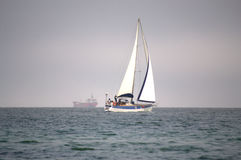 Sailing boat the high seas Royalty Free Stock Image