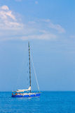 Sailing boat on the high seas Royalty Free Stock Image