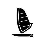 Sailing boat icon. Beach and vacation icon vector illustration Stock Photography