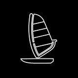 Sailing boat icon. Beach and vacation icon vector illustration Stock Image