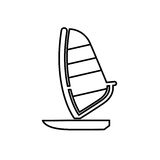 Sailing boat icon. Beach and vacation icon vector illustration Stock Photos