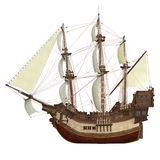Sailing boat. Image of a sailing boat on white Stock Images