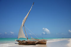 Sailing Boat In A Lagoon Royalty Free Stock Image