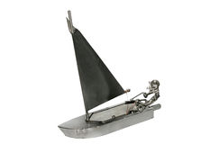 Sailing boat iron toy Royalty Free Stock Photo