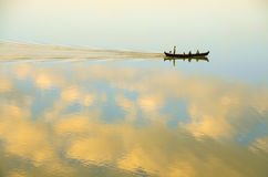 Sailing boat. In the Irrawaddy river Stock Photography