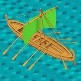 Sailing boat isometric vector illustration Stock Image
