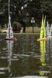Remote Control Sail Boats stock photo