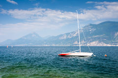 Sailing Boat at Lake Garda Royalty Free Stock Photo