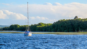 Sailing boat on lake Stock Photography