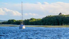 Sailing boat on lake Stock Photography