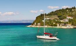 Sailing Boat, Lakka Bay, Paxi Island Royalty Free Stock Photo