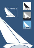 Sailing boat logo Stock Photos