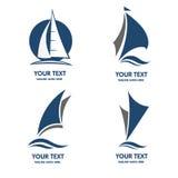Sailing boat logo vector Stock Images