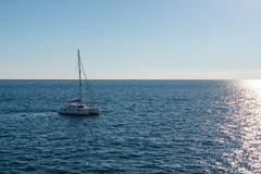 Sailing boat in Malta stock images