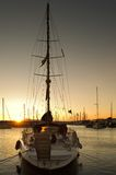 Sailing boat in marina Stock Photo