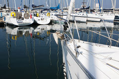 Sailing Boat Marina Dubai Royalty Free Stock Photo