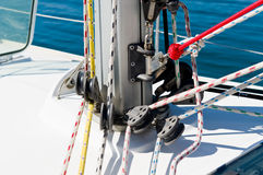 Sailing boat mast Stock Photography