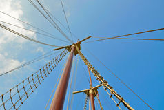 Sailing boat mast and rigging Stock Image