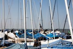 Sailing boat masts Royalty Free Stock Image