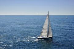 Sailing boat. In Mediterranean sea stock photos