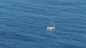 Sailing Boat at Ocean Royalty Free Stock Photo