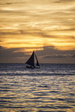Sailing boat. Offshore mooring many beautiful sailing stock images