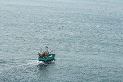 Sailing boat at an open sea Royalty Free Stock Photos