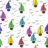 Sailing boat pattern Royalty Free Stock Photography