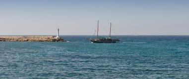 Sailing boat at the pier Royalty Free Stock Image