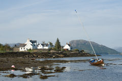 Sailing boat at Plockton. Stock Photography