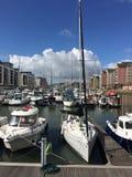 Sailing Boat at Portishead Marina Stock Image