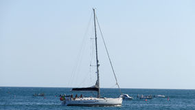 Sailing boat, Portugal, Algarve stock photo