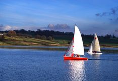 Sailing boat race Royalty Free Stock Images