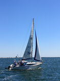 Sailing boat during a regatta Stock Photos