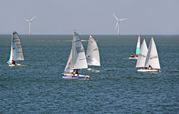 Sailing boat regatta racing Stock Photos