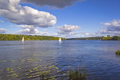 Sailing boat at the River Havel, Potsdam Royalty Free Stock Photography