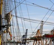 Sailing boat ropes Royalty Free Stock Photo