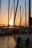Sailing Boat& x27;s Masts: Dock Seaside stock image